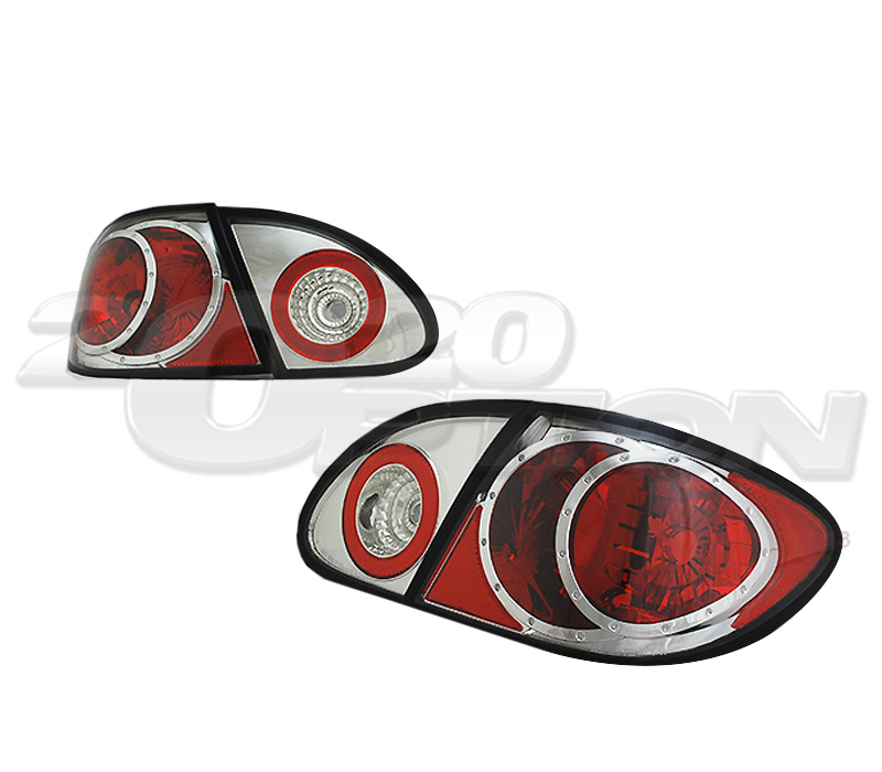 Tyc For 03 05 Toyota Corolla Tail Lights Lamps Pair Chrome
