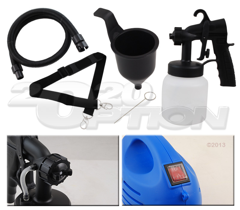 Portable 3 Ways Paint Spray System Electric Sprayer Gun Indoor Outdoors Exterior Ebay