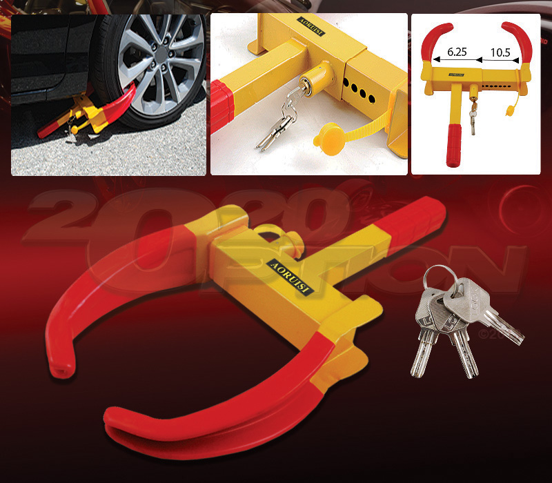 Car Theft Escape Parking: HEAVY DUTY WHEEL LOCK ANTI-THEFT PARKING CLAMP CLAW BOOT